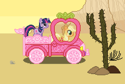 Pony Applejack Araba