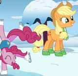 Pony Applejack ve Pinkie Pie